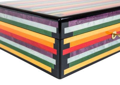 dettaglio scatola tarsia multicolore